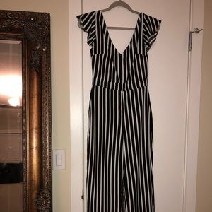 NWT striped jumpsuit - worn once -